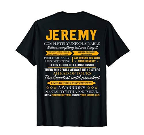 JEREMY completely unexplainable shirt JEREMY back print shir