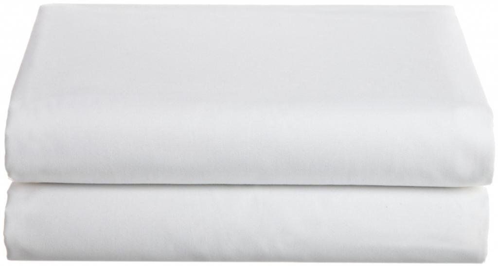 Deluxe Twin Flat Bed Sheet 100% Cotton - White