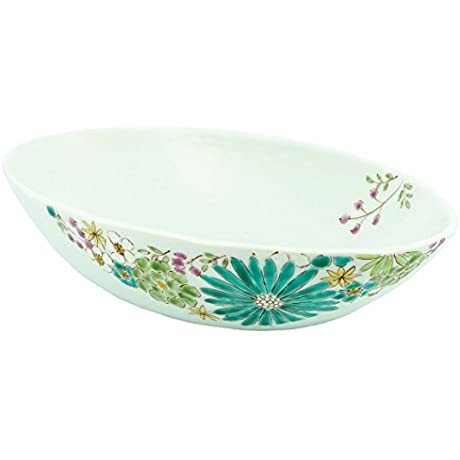 Kutani Yaki FLower 10 6inch Large Bowl Porcelain Made In Japan