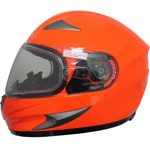 AFX Magnus Solid Snow Helmet with Dual Lens Shield , Helmet Type: Full-face Helmets, Helmet Category: Snow, Distinct Name: Safety Orange, Primary Color: Orange, Size: 3XL, Gender: Mens/Unisex - Lens Magnus