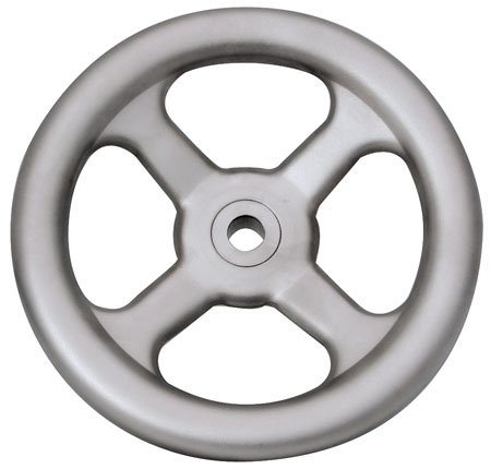 Hand Wheel w/o Handle, 5 Spoke, 304 Stainless Steel, 6.30'' Dia. X 2.05'' by RSC