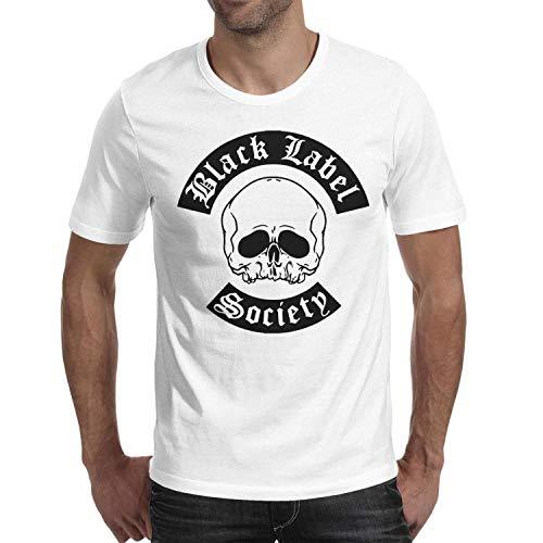 Man Black-Label-Society-Skull- Cotton Blend Short Sleeve Tshirt