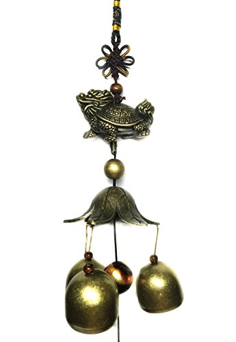 Betterdecor Feng Shui Dragon Tortoise Wind Chime (With a Gift Bag)