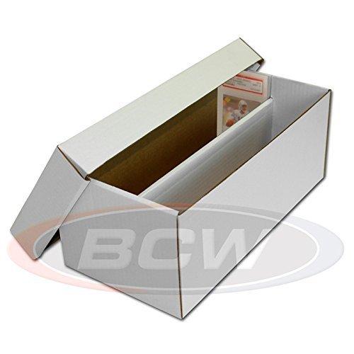 3 BCW Cardboard Graded Card schuhe Box - Graded Card Storage Box by BCW
