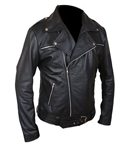 F&H Men's The Walking Dead Negan Jacket Negro