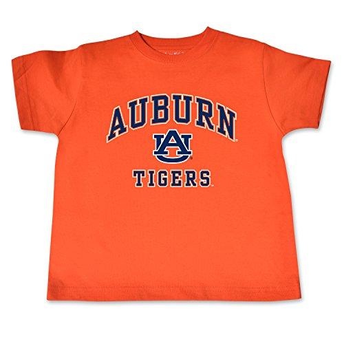 Auburn Kids Shirt - NCAA Auburn Tigers Toddler Short Sleeve Tee, 3 Toddler, Orange