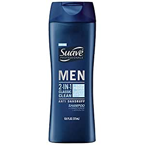 Suave Men 2in1 AntiDandruff Shampoo & Conditioner, Classic Clean, 12.6 oz