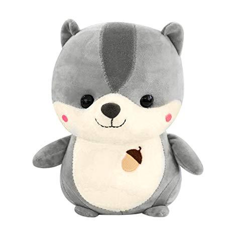 Yuemizi New Explosion Fashion Cute Soft Squirrel Animal Doll Plush Toy Family Party Wedding Child Gift 23CM Cute Squirrel Doll Doll Plush Toy (Gray)