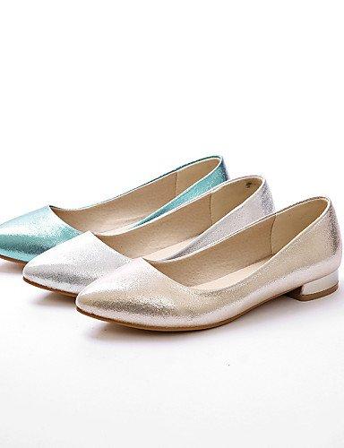 PDX/ Damenschuhe - Ballerinas - Hochzeit / Outddor / Kleid / Lässig - Kunstleder - Flacher Absatz - Komfort / Spitzschuh - Blau / Silber / Gold , blue-us10.5 / eu42 / uk8.5 / cn43 , blue-us10.5 / eu42