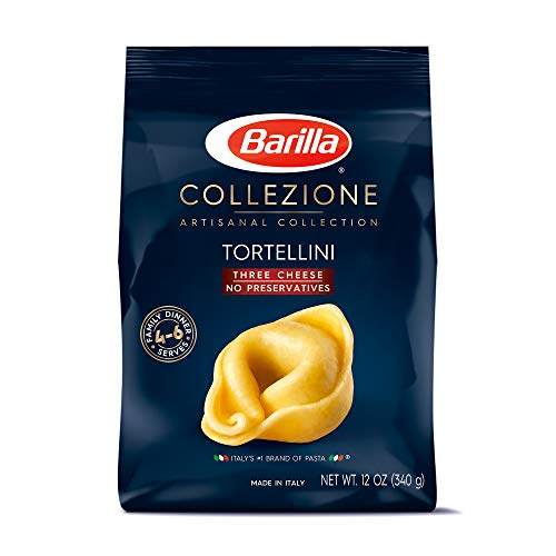 - Barilla Collezione Pasta, Three Cheese Tortellini, 12 Ounce (Pack of 4)