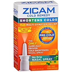 Zicam Cold Remedy No Drip Nasal Spray, 0.5 oz., Pack of 2