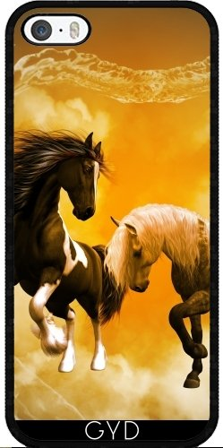 Coque pour Iphone SE - Chevaux étonnants by nicky2342