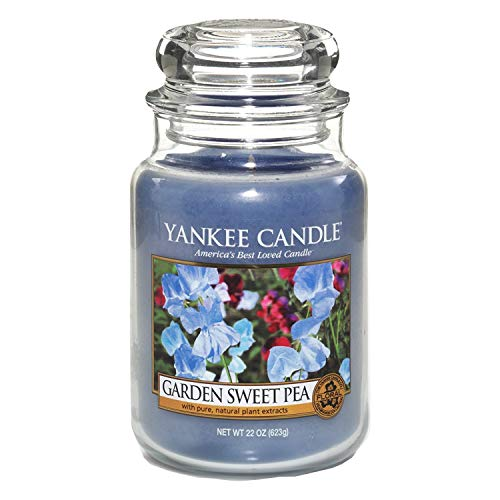 Yankee Candles Garden Sweet Pea Large Jar Candle,Fresh Scent