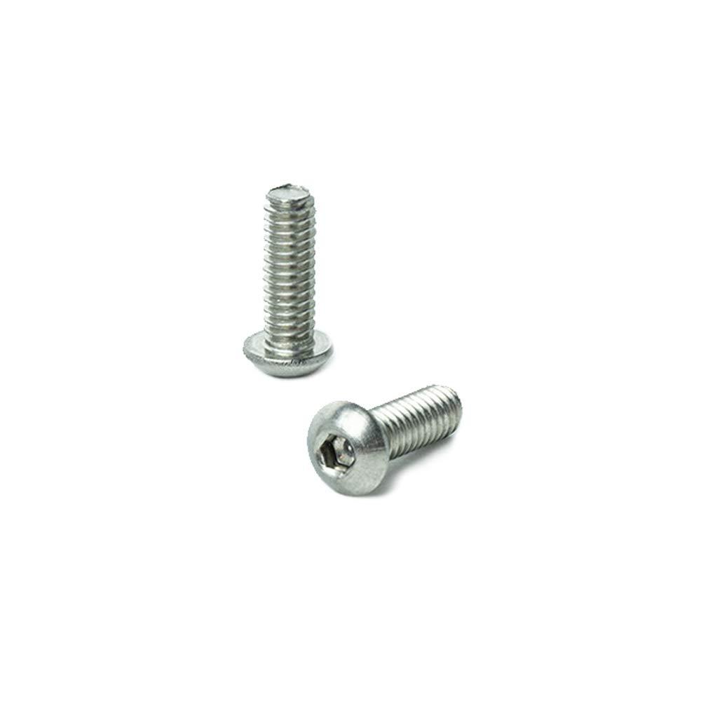 Allen Socket Drive Bright Finish Quantity 25 by Bridge Fasteners 1//4-20 x 3//4 Button Head Socket Cap Screws Machine Thread Stainless Steel 18-8 Full Thread