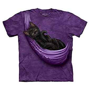 The Mountain Purple Round Neck T-Shirt For Women