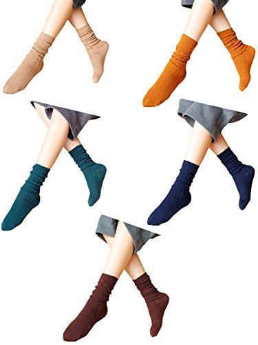 zando-cushion-soft-solid-sleep-boot-cotton-socks-for-women-girl-chirstmas-gift-mix-color-5-pairs-b