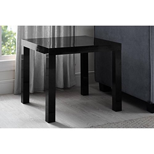 Mainstays Parsons Side End Table, Multiple Colors (High Gloss Black)