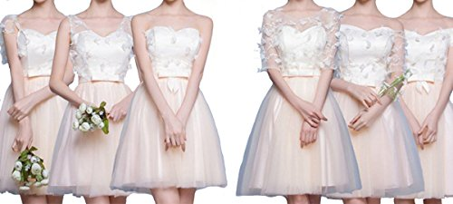 LaoZan Vestidos de Fiesta para Bodas Cortos para Dama de Honor Tipo B