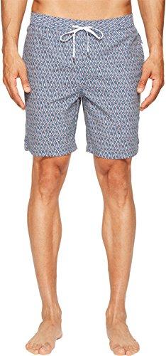 onia Men's Charles 7 Woven Geo Swimsuit Bottoms