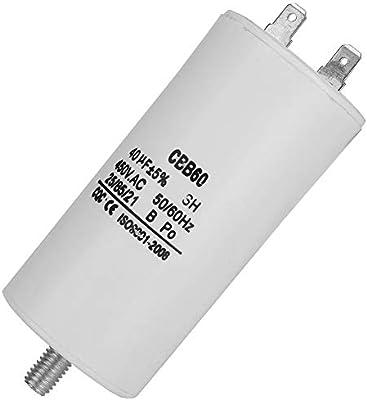 CBB60 450V 40uf Condensador de Bomba de Agua Condensador de ...