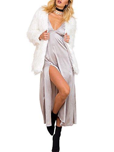Manteau Simplee Femme Fourrure Fausse Veste en Apparel 7qTxnqrg