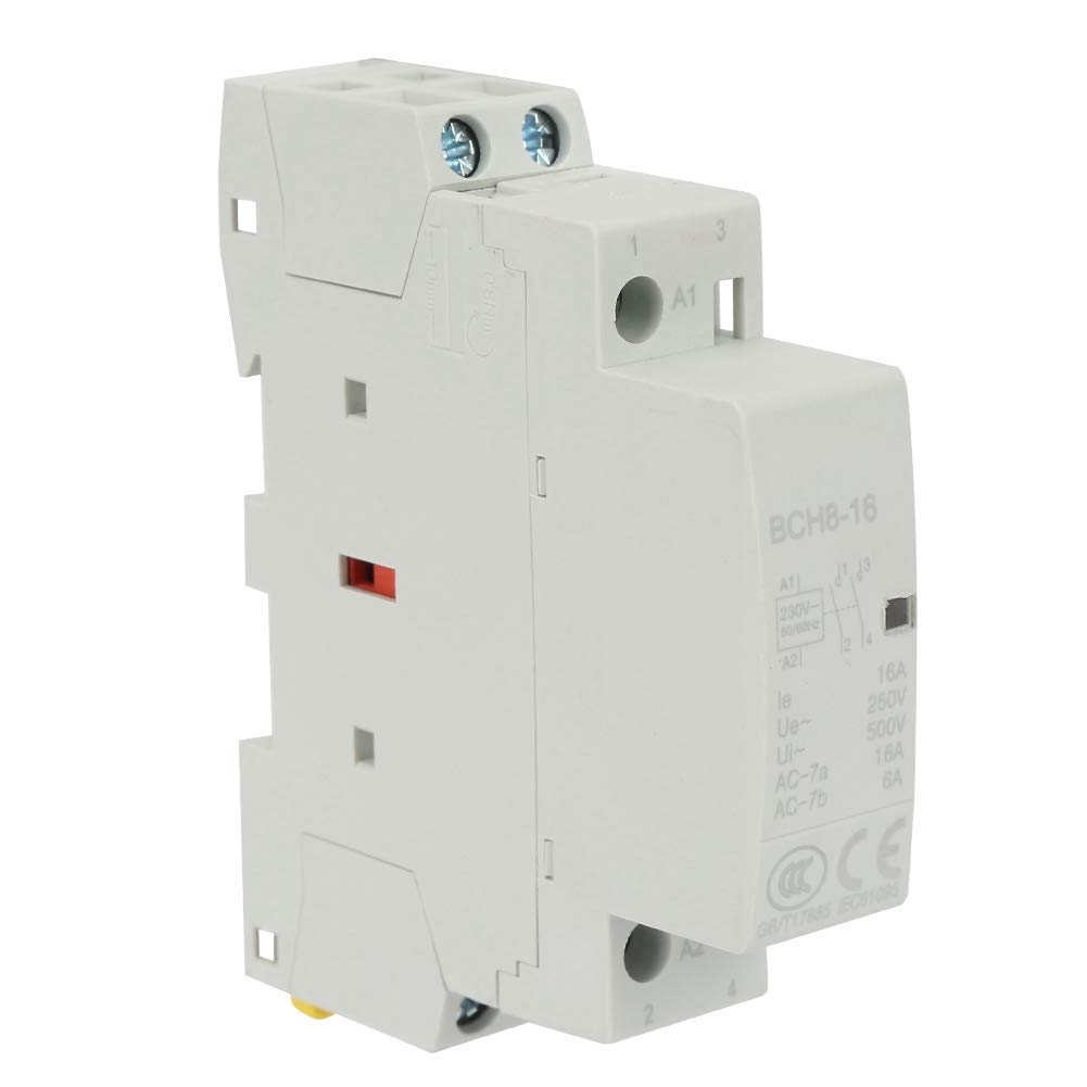 Contactor de CA con sistema electromagn/ético optimizado 2P 16A 220V//230V 1NO 1NC 50//60HZ Contactor de CA para uso dom/éstico en riel DIN