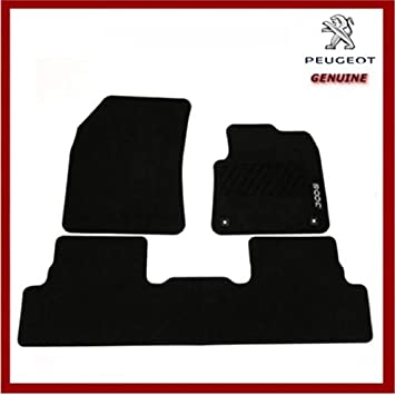 DELUXE CARPET RUBBER TAILORED CAR FLOOR MATS 2 CLIPS PEUGEOT 3008 2017 ON