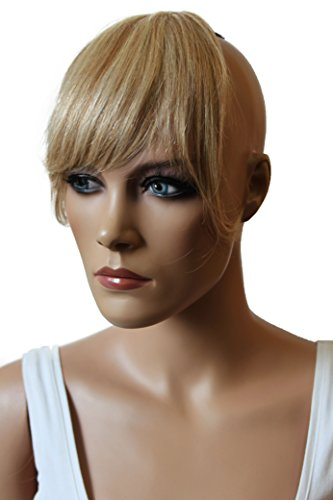 PRETTYSHOP 100% Real Human Hair Clip in Bang Fringe Extensions Hairpiece Div. Colors (blonde mix #27H613 H313)