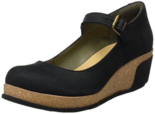 El Naturalista 5004, Zapatos de Cuñas Mary Jane Mujer Negro (Black)