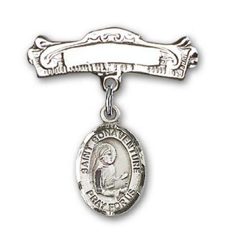 Icecarats Créatrice De Bijoux En Argent Sterling St. Charme Bonaventure Broches Badge Arc 7/8 X 7/8