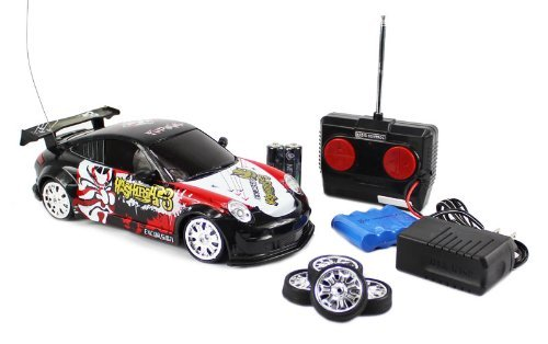 1:18 Scale RTR Remote Control Full Function Porsche 911 GT3 / Turbo / GT2 Drift car with Graffiti (Colors May Vary) and Rechargeable Batteries - Porsche 911 Turbo Gt3