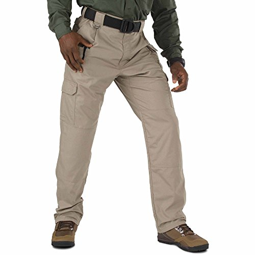 5.11 Tactical Men's Taclite Pro Lightweight Performance Pants, Cargo Pockets, Action Waistband, Stone, 34W x 30L, Style 74273