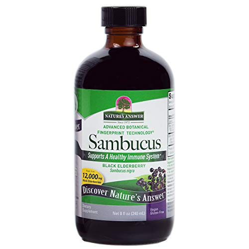 (Nature's Answer Alcohol-Free Sambucus Black Elder Berry Extract, 8-Fluid Ounces)