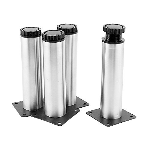 uxcell 6-inch High Kitchen Furniture Sofa Cabinet Adjustable Leg Plinth 4pcs (Centure Furniture)