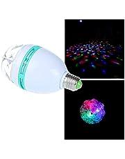 LED Crystal Disco RGB Auto Rotating Bulb Lamp