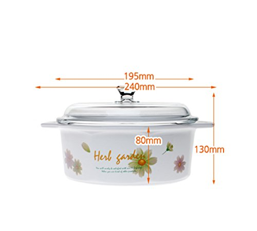Luminarc France Vitroline Casserole with Glass Cover Cooking Pot (Herb Garden 1.5L)