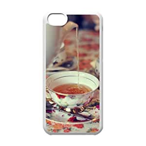 Afternoon Tea Customized Cover Case with Hard Shell Protection for Iphone 5C Case lxa#412220