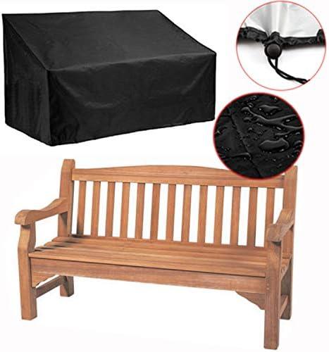 Silvotek Funda Banco Jardin de 3 plazas - Impermeable Fundas para Bancos de Jardin con Material Oxford 210D Duradero + Recubrimiento de PVC Extra, Cubierta para Banco de jardín - 162x66x89cm: Amazon.es: Jardín