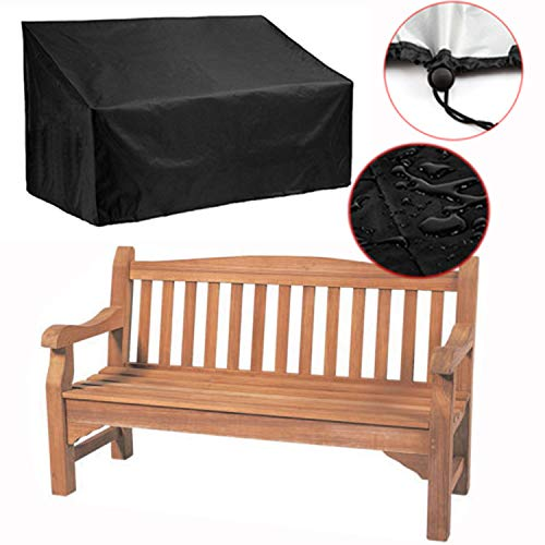 "Silvotek 2 Seater Garden Bench Cover - Waterproof Outdoor Bench Cover with Durable 210D Oxford Material+ Extra PVC Coating, Patio Bench Cover - 53"" L x 26"" W x 35"" H"