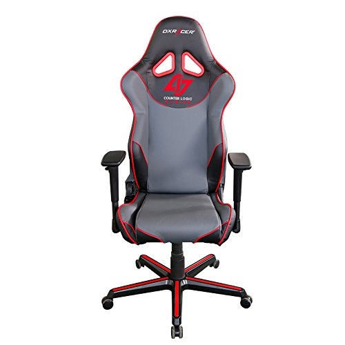 41o2jZirSiL - DXRacer-Racing-Series-DOHRZ129NGRCLG-Counter-Logic-Gaming-Racing-Bucket-Seat-Office-Chair-Gaming-Chair-Ergonomic-Computer-Chair-Desk-Chair-Executive-Chair-With-Pillows-Red