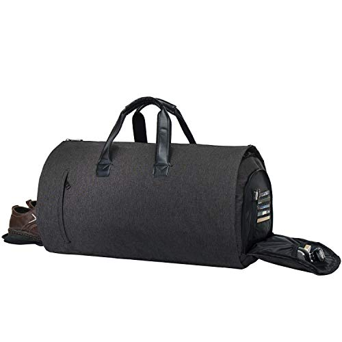 (Garment Bag Duffel Luggage Oversized Waterproof,Suit/Blazer Bags/Carry-Garment/Travel/Weekend (Black) ¡­ )