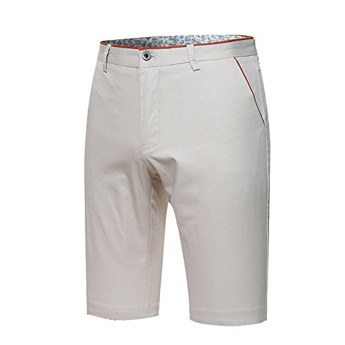 Slim Fit Walkshort - OLUOLIN Men's Basic Slim Fit Flat Front Cotton Chino Shorts