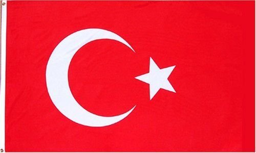 ALBATROS 2 ft x 3 ft Turkey Turkish Flag 2x3 House Banner Brass Grommets for Home and Parades, Official Party, All Weather Indoors -