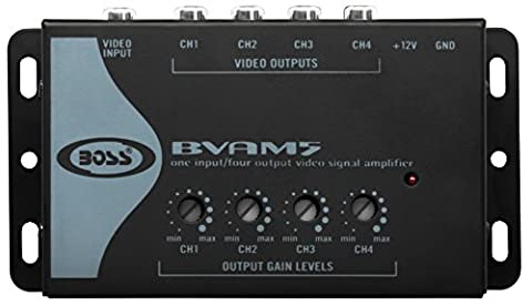 BOSS Audio BVAM5 One In/Four Out Car Video Signal Amplifier - Amplifies Video Signal to Maintain Picture Quality in Multi-Monitor (Car Audio / Video Accessories)