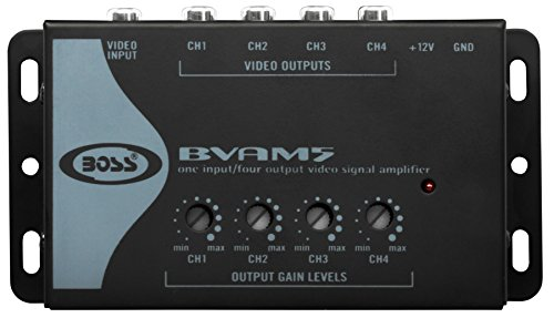 - BOSS Audio BVAM5 One In/Four Out Car Video Signal Amplifier - Amplifies Video Signal to Maintain Picture Quality in Multi-Monitor Systems