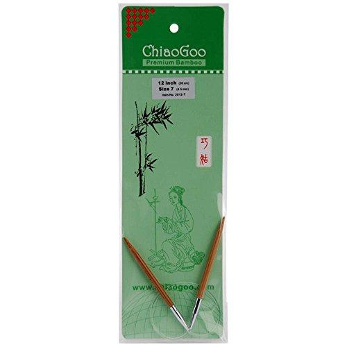 ChiaoGoo Circular 12-inch (30cm) Bamboo Dark Patina Knitting Needle; Size US 4 (3.5mm) 2012-4 (Fixed Knitting Circular Needles)