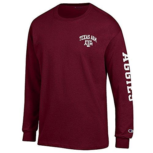 Texas Am Aggies Shirt (Texas A&M Aggies Long Sleeve TShirt Letterman Maroon - L)