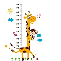 Height Growth Chart Sticker,Outivity Peel and Stick Removable Wall Stickers for Kids Nursery Bedroom Living Room