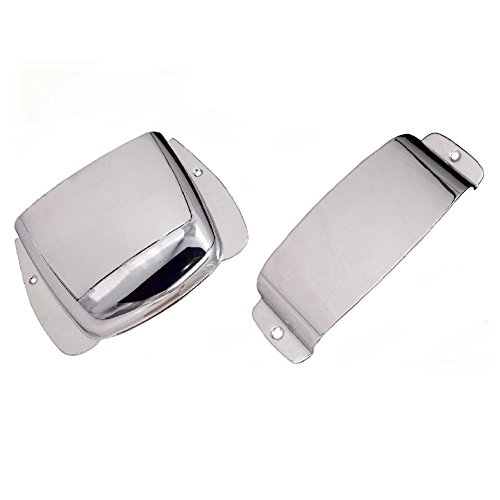 - SODIAL Pure Vintage Precision Bass Ashtray Cover Set Metal Silver