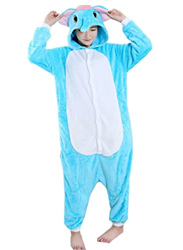 LeaLac Unisex Onesie Animal Cosplay Stage Performance Costume Adult Pajamas Elephant XL